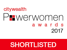 I've been shortlisted for CityWealth's Power Women Awards 2017